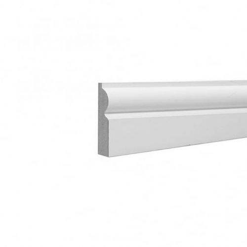FC14 White Laminate Skirting Board 2.4 Metre Lengths 116x15mm